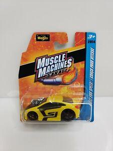 Maisto-Muscle-Machines-Garage-Honda-Civic-Si-Yellow-1-64