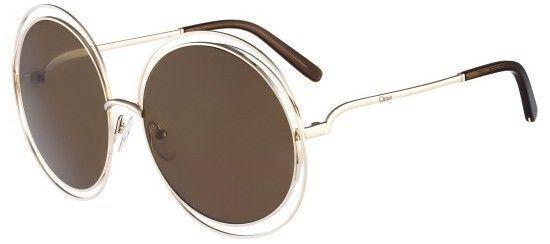 Hot Genuine Chloe Carlina Round Oversized Wire Frame Sunglasses CE ...