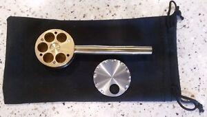 Banjopipe metal pipe multi bowl USA banjo brass 6 shooter mendo proto glass