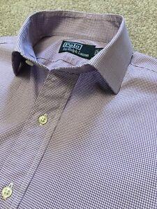 100% De Qualité Magnifique Polo Ralph Lauren Lilas Vichy Business Chemise 15 Col Cost £ 95