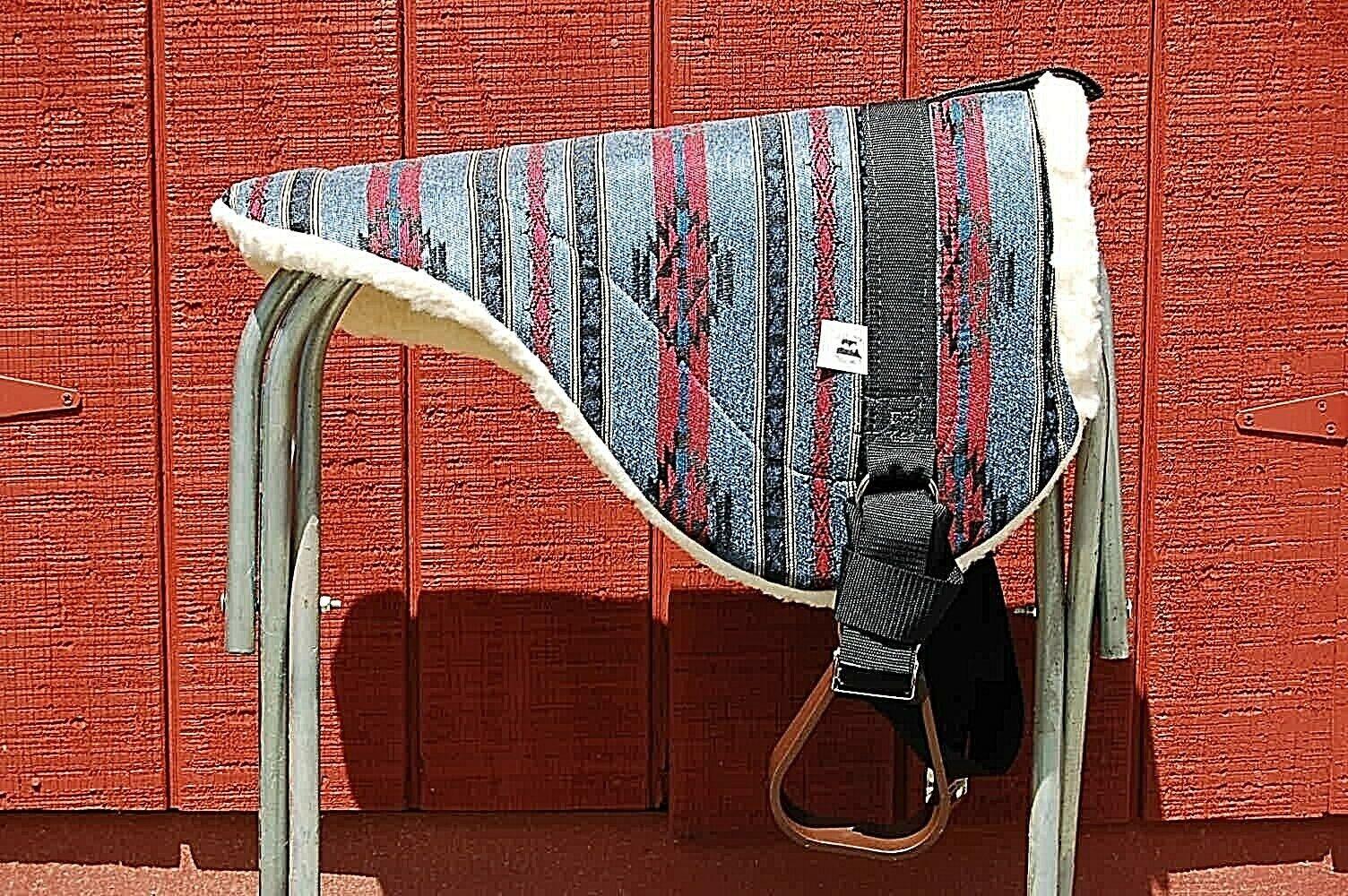 BAREBACK SADDLE PAD LIGHT Blau FREE ADJUSTABLE HORSE Größe