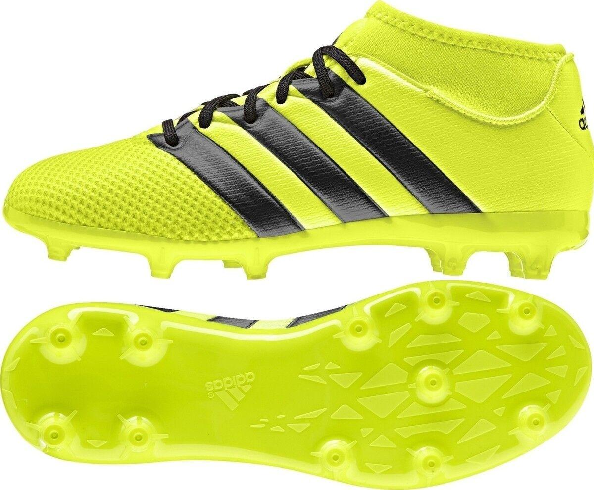 Adidas - ACE 16.3 Primemesh FG AG J - zapatos Calcio Junior - amarillo Blk - AQ3444