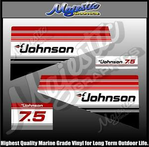 OUTBOARD  DECALS DECAL SET 5.0 hp JOHNSON