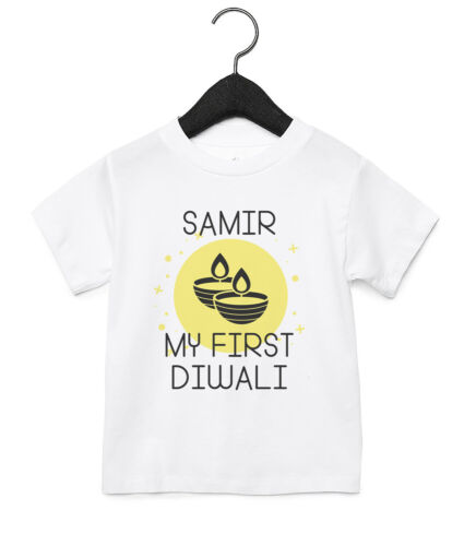 MY FIRST DIWALI PERSONALISED BABY TODDLER T SHIRT KIDS FUNNY GIFT CUTE 02