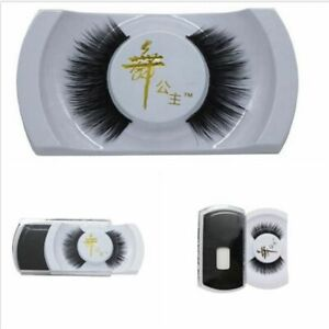 Real-Black-Handmade-Natural-Mink-Hair-Long-Thick-Eye-Lashes-False-Eyelashes-HOT