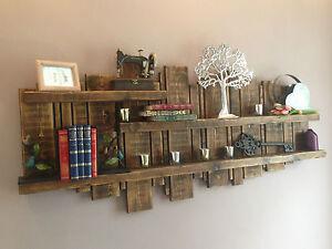 MURO-di-legno-unita-di-visualizzazione-mobile-rustico-mensola-RIGENERATA-VARI-COLORI-E-TAGLIE
