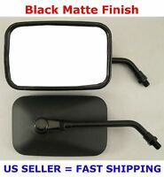 Pair Black Rectangular Motorcycle Mirrors - Suzuki S40 M50 S50 C50 S83 C90 M50