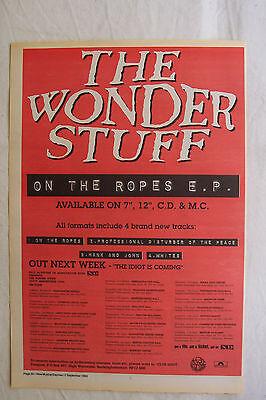 1993 - WONDER STUFF - On The Ropes + UK Tour Dates - Press Advert - Poster Size