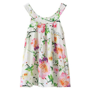 4df9c7540 Summer Cute Baby Kid Girl Dress Toddler Princess Party Floral Print ...