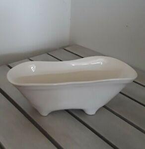 Vintage Freestanding Bathtub Shaped Soap Dish New Embossed Rim Made In Usa Ebay