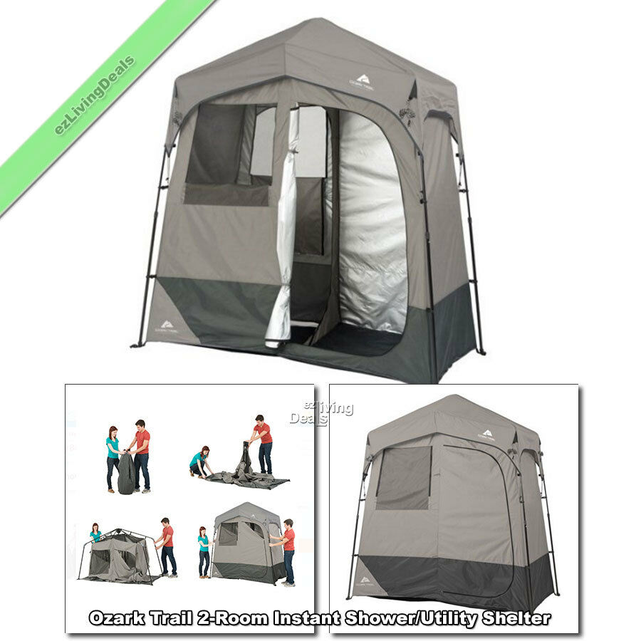 Camping Instant Shower Tent 2 Rm Ozark 7'x3.5' Portable Outdoor Utility Shelter