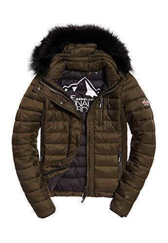 Slim doppia cerniera con zip giacca internazionale pelliccia Womens Fuji giacca Superdry di cappotto AXETqY