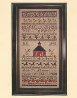 Door Prairie Barn Sampler--farm And Country--abc's--counted Cross Stitch Pattern