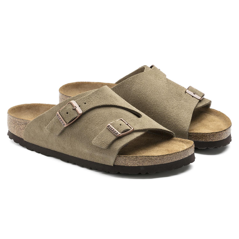 Birkenstock Zurich Soft Sandals Footbed (1009533) Suede Leather Sandals Soft Women Sandal e5b659
