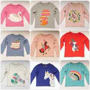 EX-MINI-BODEN-GIRLS-CUTE-APPLIQUE-JERSEY-HORSE-FLOWER-BIRD-T-SHIRT-AGES-2-14