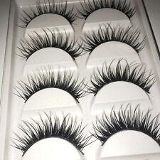 5 Pairs Girl Makeup Thick Cross False Eyelashes Handmade Eye Lashes Extension