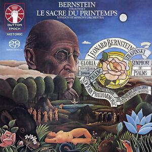 BERNSTEIN - STRAVINSKY Rite of Spring, Symphony of Psalms & POULENC Gloria SACD