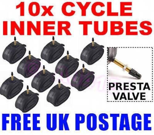 """10x PRESTA Inner Tubes 26/"""" 1.50 1.95 MTB Mountain Tandem Bike Buytl Rubber"""