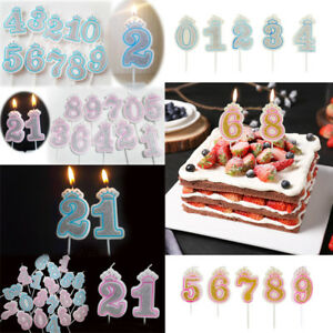Image Is Loading Cake Topper Numbers Wedding Birthday Decoration Gold Glitter