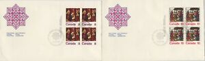 CANADA-1976-Christmas-8c-amp-10c-NO-20c-Block4-unaddressed-FDC-JD1793
