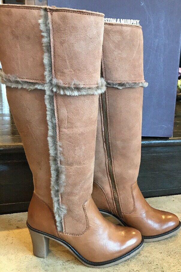 Johnston & Murphy Women's Jamie Shearling Boot Tan 7 M US