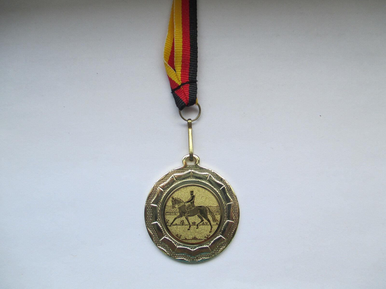 Reiten Pokal Kids 100 Medaillen x Medaillen 100 Deutschland-Bändern Turnier Emblem Reitsport ffab7c