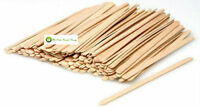 """PACK OF 500 WOODEN 5.5"""" CLASSIC ROUND ENDS - COFFEE TEA HOT DRINKS STIRRERS"""
