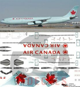 V1 Decals Airbus A340-300 Air Canada for 1/144 Revell Model Airplane Kit V1D0272