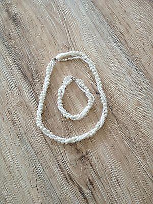 DemüTigen Perlenkette & -armband, Ivory, Handarbeit, Wie Neu üBerlegene Leistung