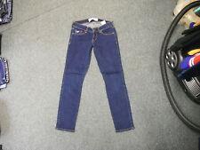 "Hollister Skinny Jeans Waist 25"" Leg 27"" Faded Dark Blue Ladies Jeans"