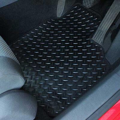Black Fully Tailored Rubber Car Floor Mats For Honda Civic 2006-2008