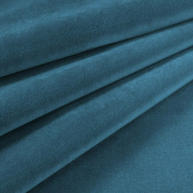Durable High-End Velvet Solid Designer Upholstery Fabric Heavy Wt Dusty Teal