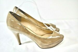 ENZO Angiolini Patent Leather Women's Open Toe Shoes Size 9 Wide   jl