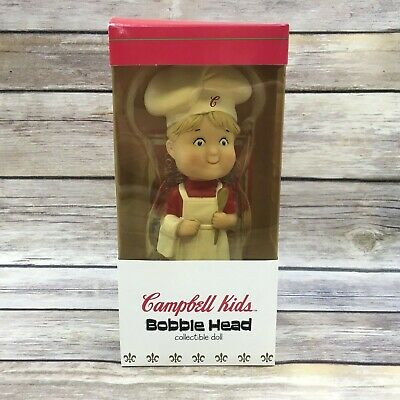 MIB NOS Campbell/'s Soup Kids Bobble Head Boy Chef Collectible Doll 2002  hd1390