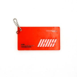 Details about [iKON]NEW KIDS REPACKAGE Album Official ACRYLIC  KEYRING/RED-IKON