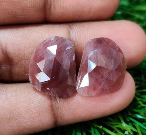 Details about  /Natural Multi Sapphire,Slice Pair,Fancy Shape,Rose Cut,Sapphire Pairs,Gemstone