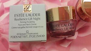 ESTEE-LAUDER-Resilience-Lift-Firming-Sculpting-Face-amp-Neck-Night-Creme-5ml-x-1-NIB