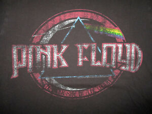 AEROPOSTALE-PINK-FLOYD-T-SHIRT-Retro-Concert-Tour-Tee-Dark-Side-of-Moon-LARGE