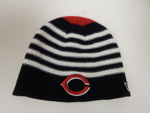 premium selection a289a bad32 ... inexpensive new era cincinnati reds mlb red white black womens striped  knit beanie 4d9dd b1d59