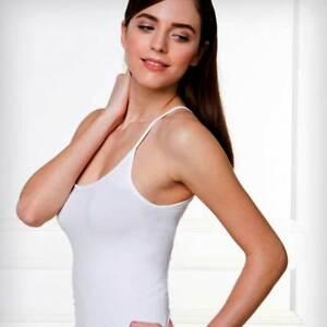 Muskelshirt Damen Bellissima Breite Schulter aus Mikrofaser Nahtlose Elasticized