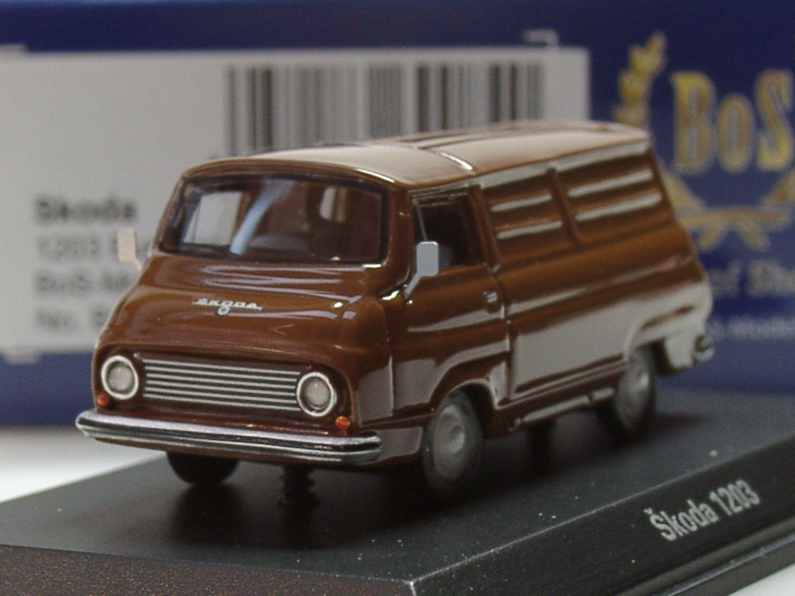 BOS Skoda 1203 Kastenwagen, 1968, brown - 87552 - 1 87