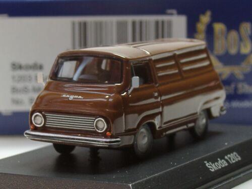 1968 87552-1:87 BOS Skoda 1203 Kastenwagen braun