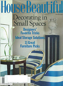 Details about House Beautiful Magazine January 2003 Decorating In Small  Spaces Designer Tricks