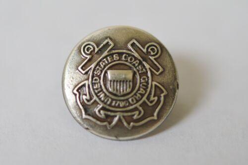 """New United States Coast Guard Rivetback Concho 5//8/"""" Enmon Silver"""