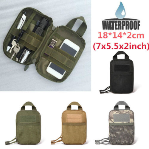 Black Tactical Pouch Belt Waist Pack Bag Phone Pocket Outdoor Camping Hiking