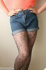 Red Herring Designer Stunning Lace Design Pantyhose Tights Grey Medium RRP £6.50