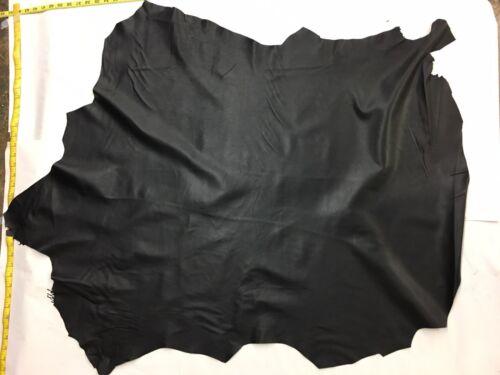 1.5 oz 9 Sq.Ft Italian Sheepskin Leather Skin Hide Soft Pure Black