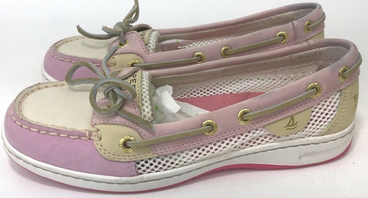 Sperry Top Sider femmes Taille 6 rose Leather Boat chaussures