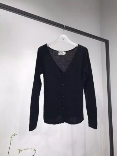 Barry Jumper Cardigan V Neck Thin Mohair Cashmere Merino Wool White SOLD OUT