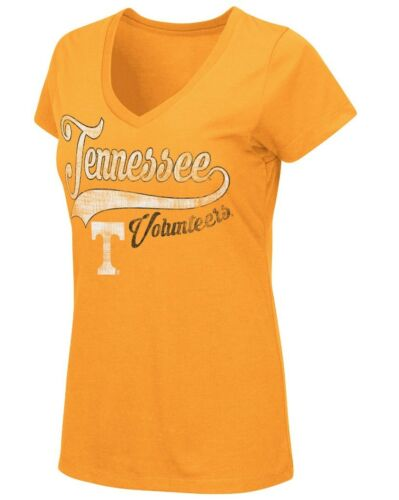 """Tennessee Volunteers Women/'s NCAA /""""How You Doin/'/"""" Dual Blend V-neck T-Shirt"""